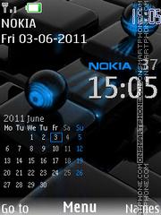 Nokia Calendar Clock theme screenshot