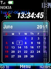 Flash Calendar Clock es el tema de pantalla