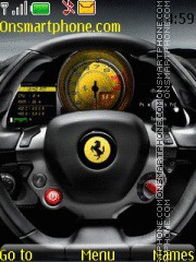 Ferrari Control Panel theme screenshot