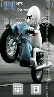 Скриншот темы Zoo Zoo Bike