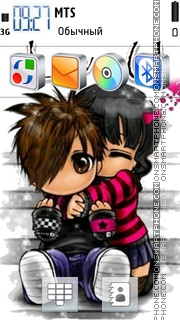 Love Couple 10 tema screenshot