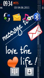 Message To Me es el tema de pantalla