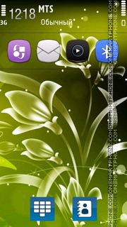 Green flower 5th tema screenshot