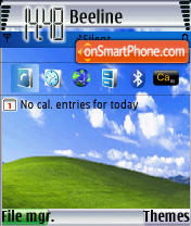 PDANet Silver XP2 e61 theme screenshot