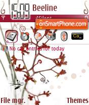 Paw Flower theme screenshot