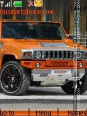 Orange Hummer theme screenshot