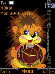 Cartoon Lion Clock es el tema de pantalla