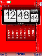 Calender Clock Grass theme screenshot
