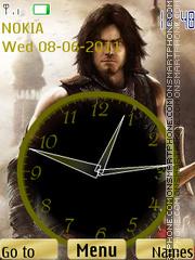 Prince of Persia Clock theme screenshot