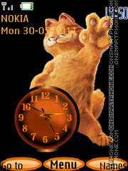 Скриншот темы Garfield Clock