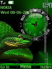Green Snake Clock theme screenshot