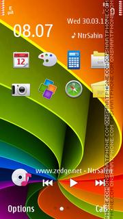 Rainbow Swirly theme screenshot