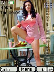 Sexy model155 es el tema de pantalla