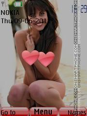 Sexy model156 es el tema de pantalla