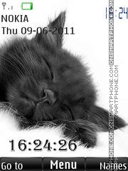 Sleeping Cat By ROMB39 theme screenshot