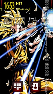 Goku Dragon Ball Z tema screenshot