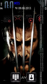 Wolverine Origins tema screenshot