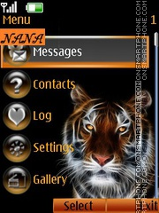 Abstract Tiger CLK theme screenshot