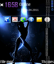 Dancing girl 01 es el tema de pantalla