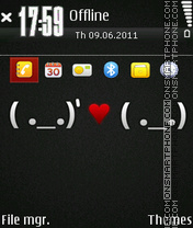 Love 12 theme screenshot