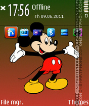 Micky Mouse Red theme screenshot