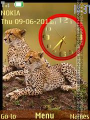 Gepard Clock tema screenshot