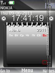 Calendar Clock 01 theme screenshot