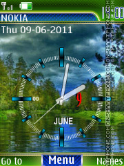 clock nature animated tema screenshot