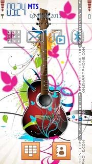 Guitar Theme theme screenshot