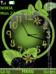 Berry Clock theme screenshot